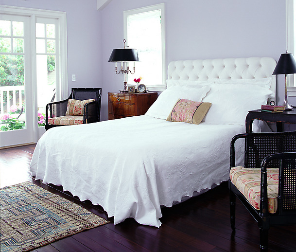 How current events affect color and decorating your home - Lilac color paint bedroom ...