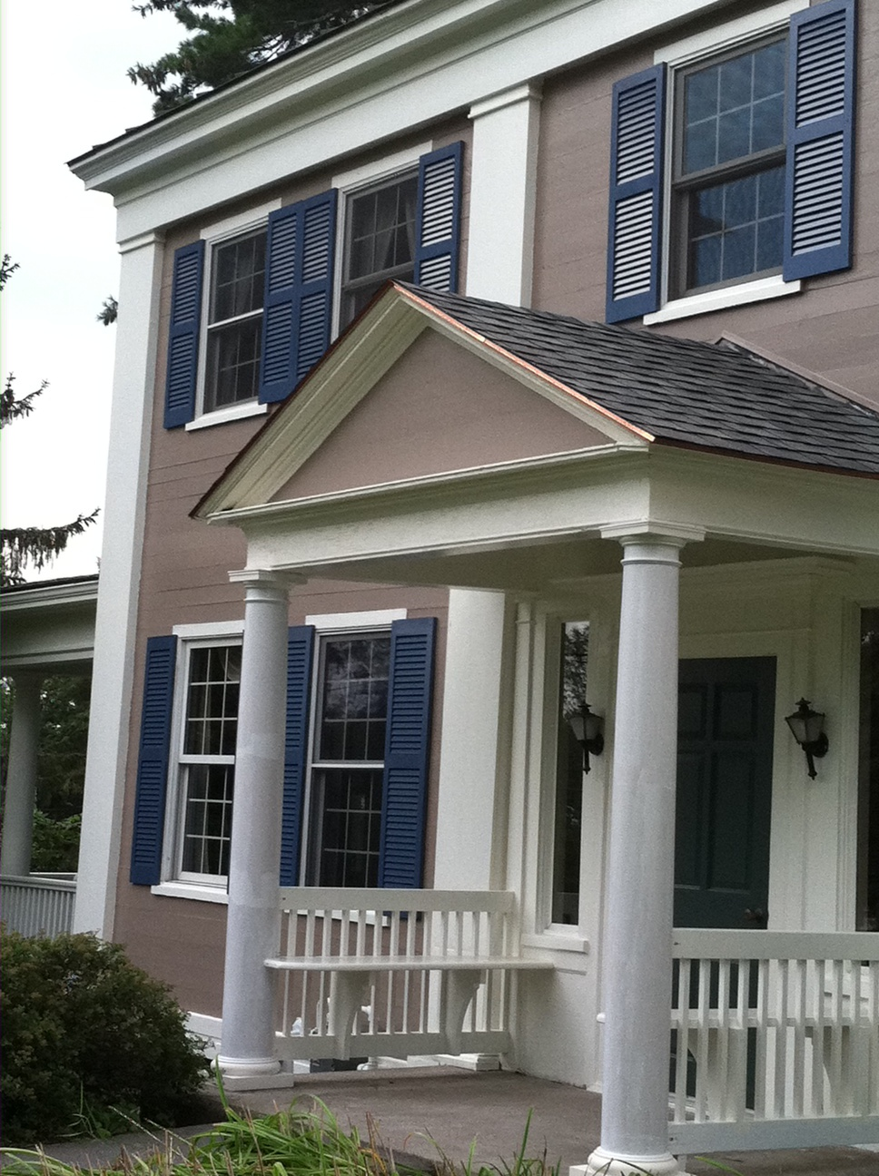 The Taupe Siding Has The Most Interesting Pink, Almost Purple, Undertone  That Changes The Way We See The House Color ...
