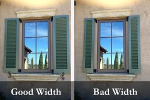 shutter width